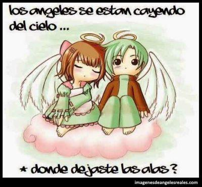 imagenes de angeles con mensajes de amor
