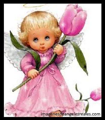 imagenes de angeles y niñas animadas